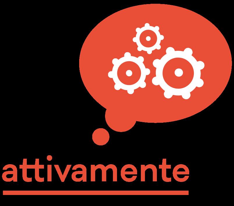 Logo Attivamente Bianco Rosso