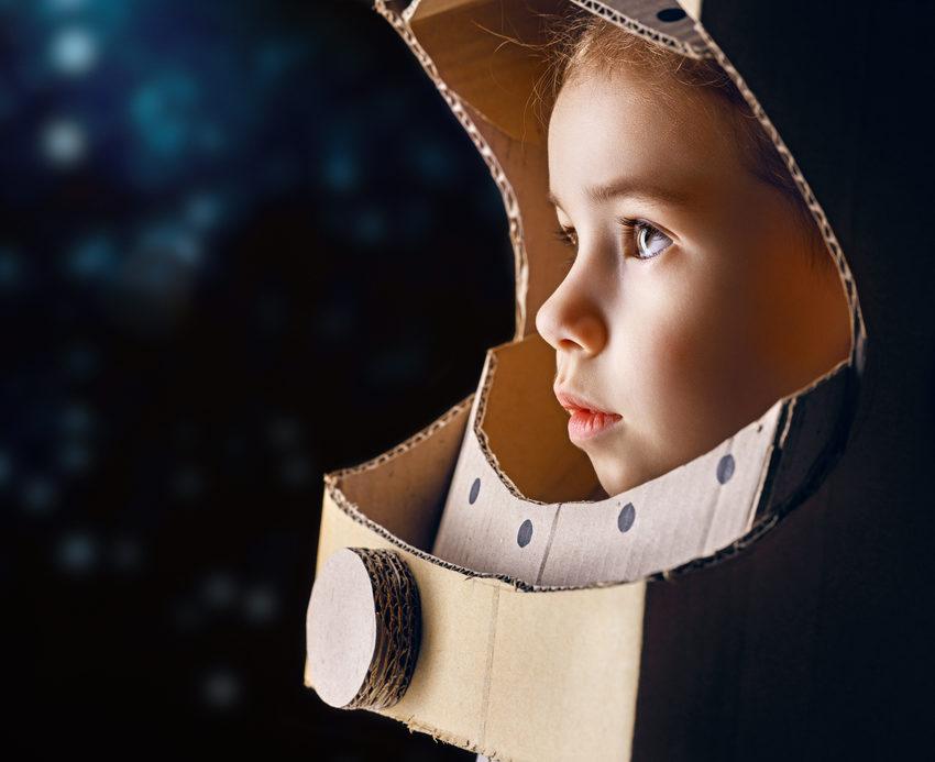 astronauta bambina